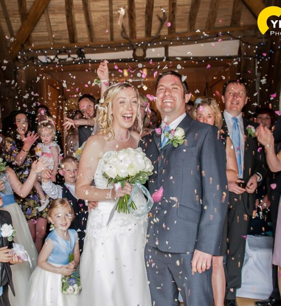 Rob and Claire's Notley Tythe Barn wedding